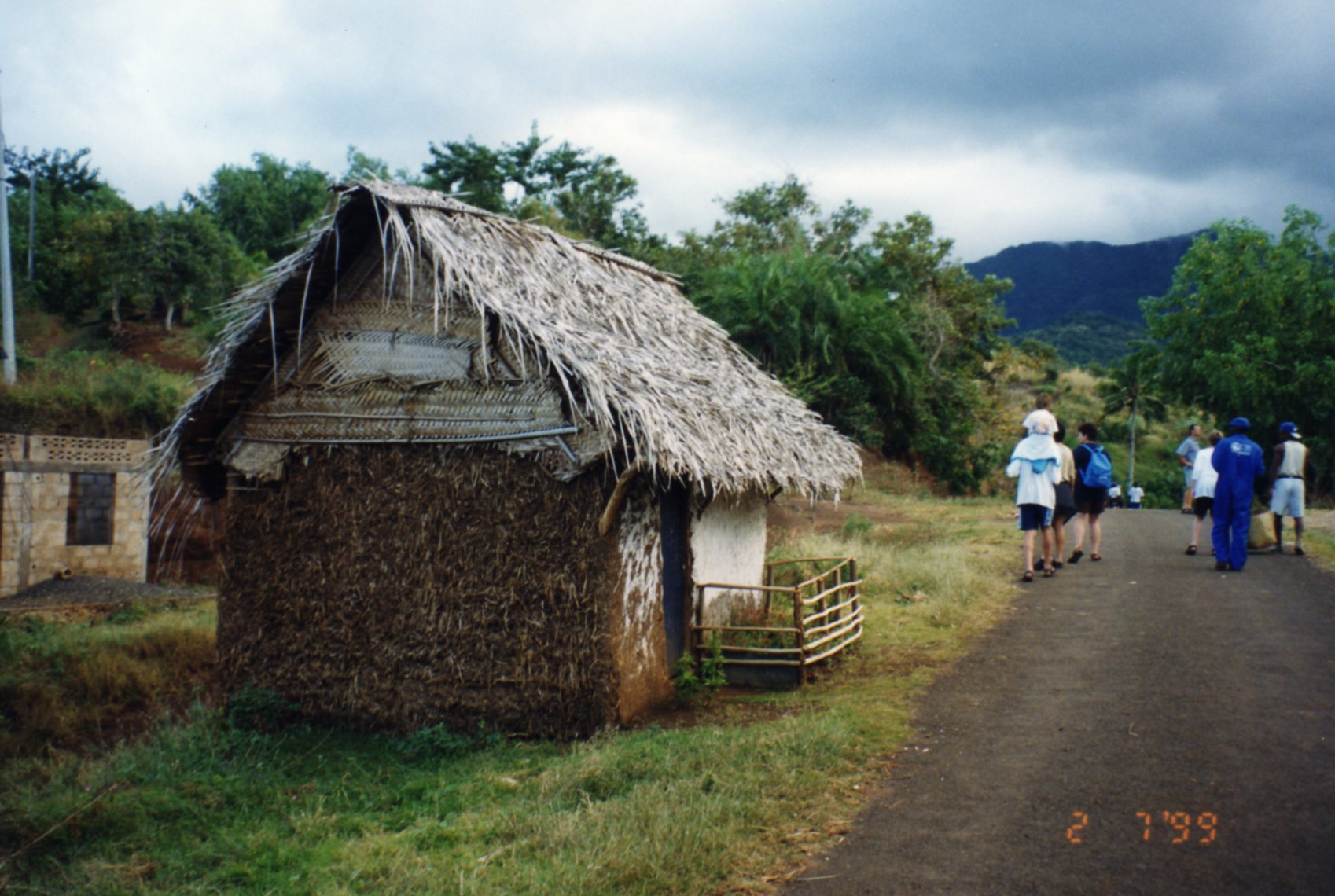 Quaint houses with small doors Moheli