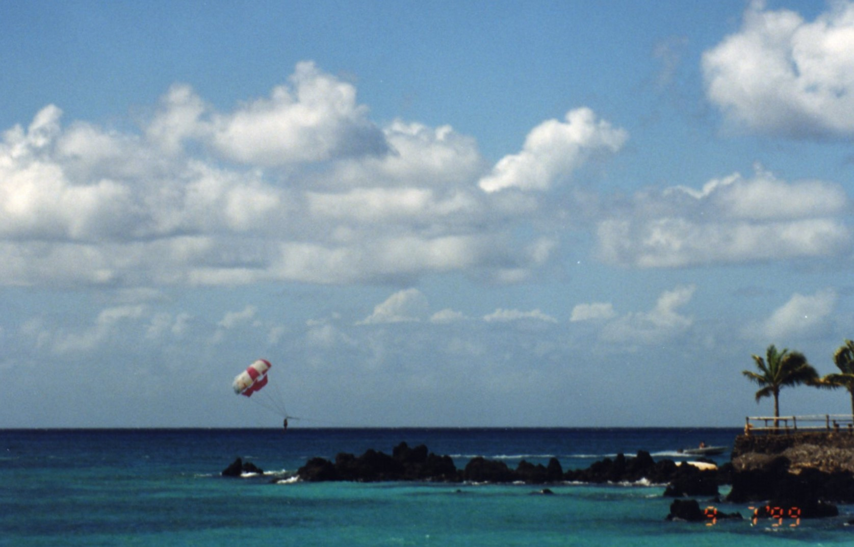 Volcanic rock, watersports and azure blue - island bliss