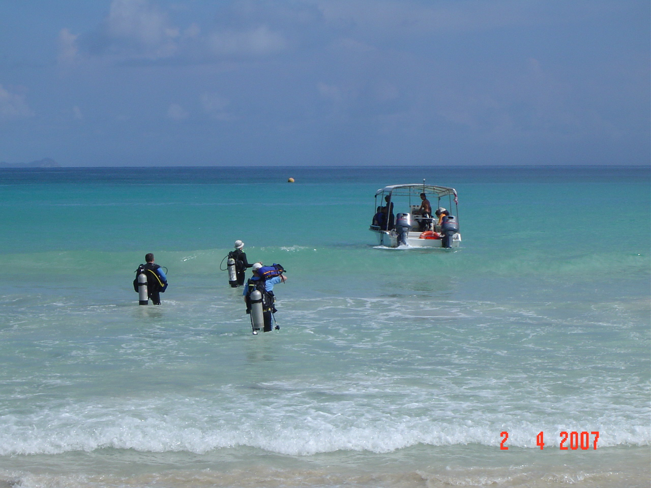 Going diving Mahe