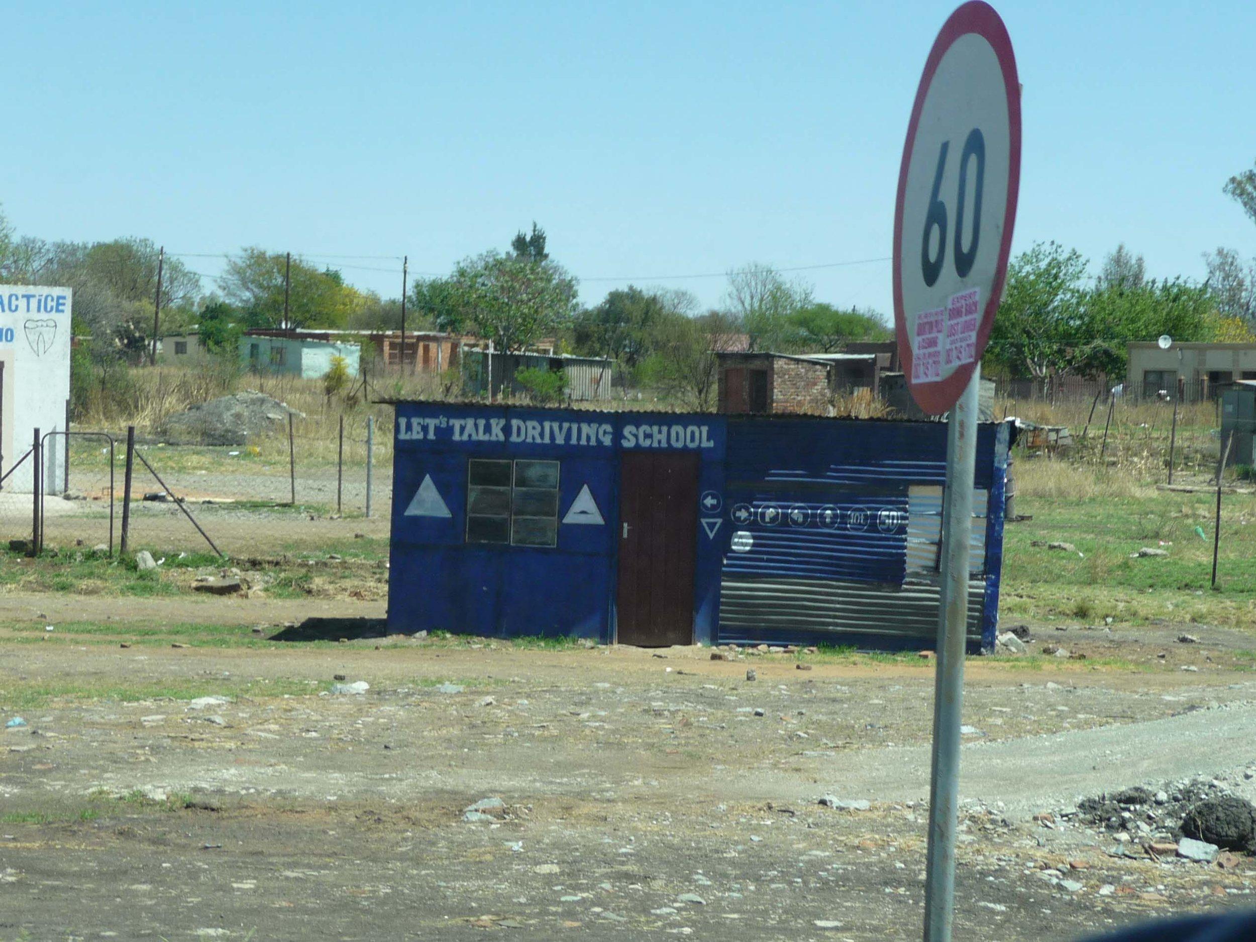 Driving school on the way to Pilanesberg