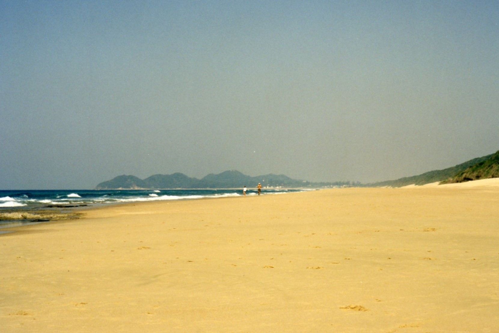 Ponta do Ouro in the distance