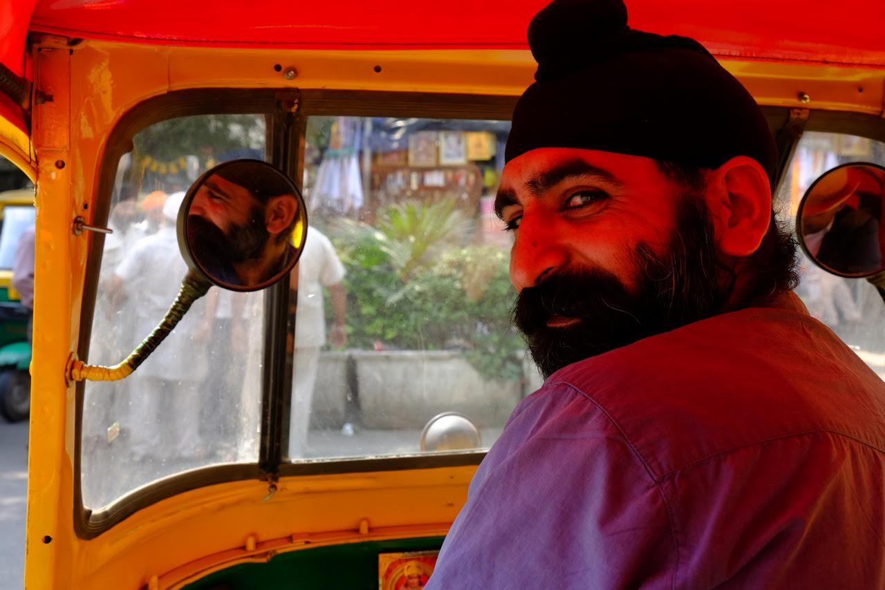 Sikh tuk tuk driver in Delhi - Gillian Mclaren