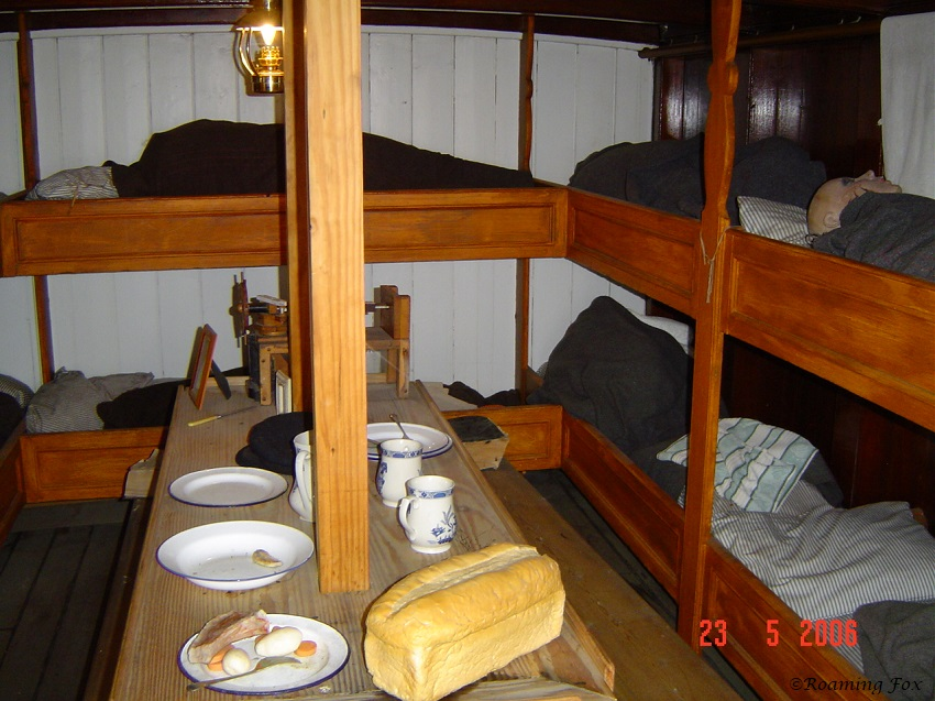 Love the detail inside a cabin of the Cutty Sark