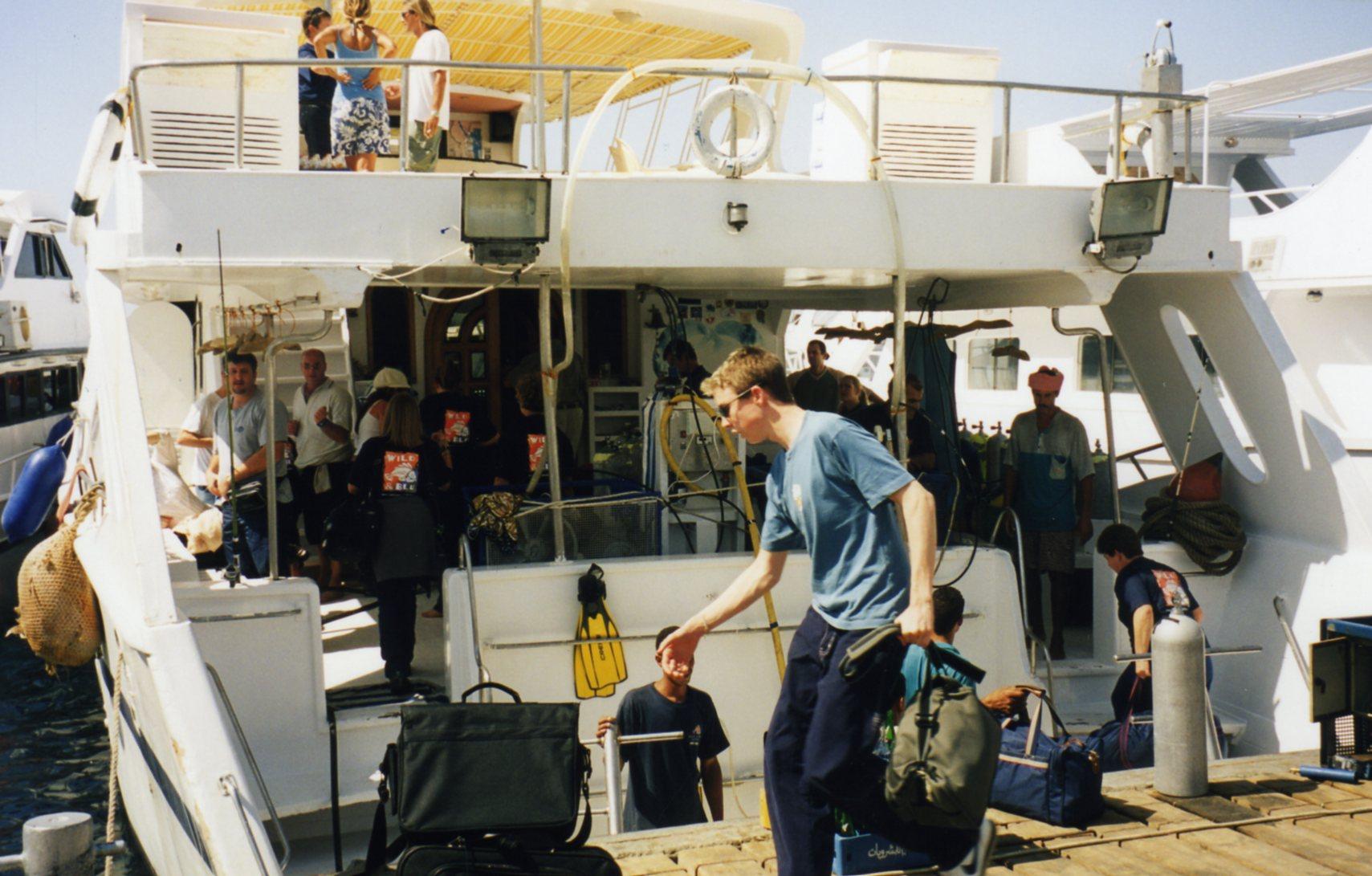 Boarding on boat
