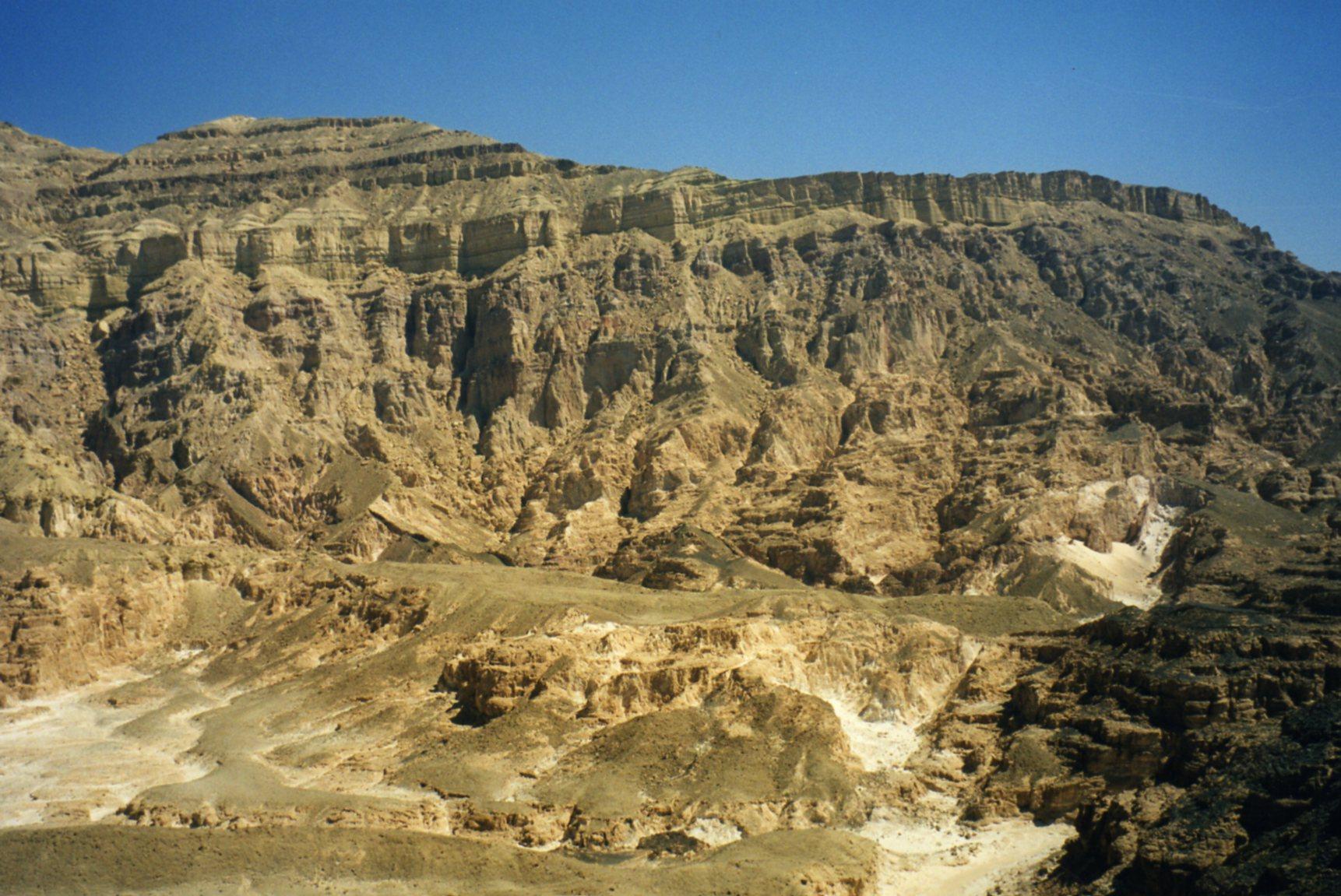 Rugged and barren mountains between Dahab and Sharm el Sheik