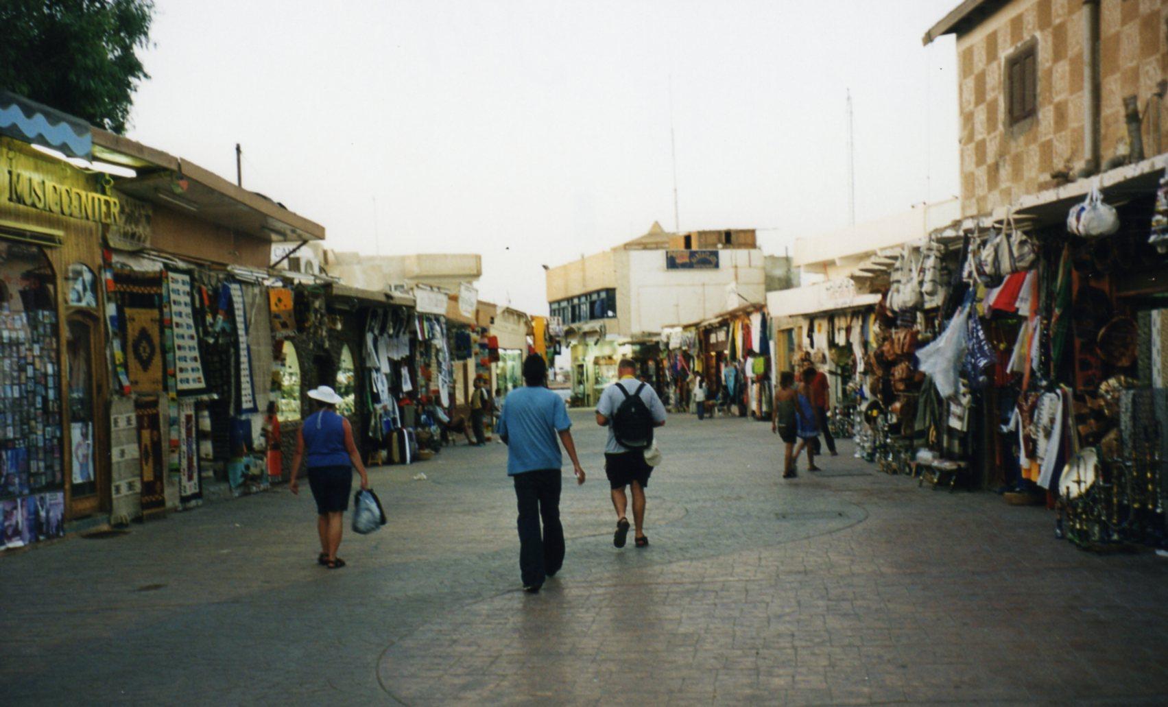 Walking through streets of Dahab