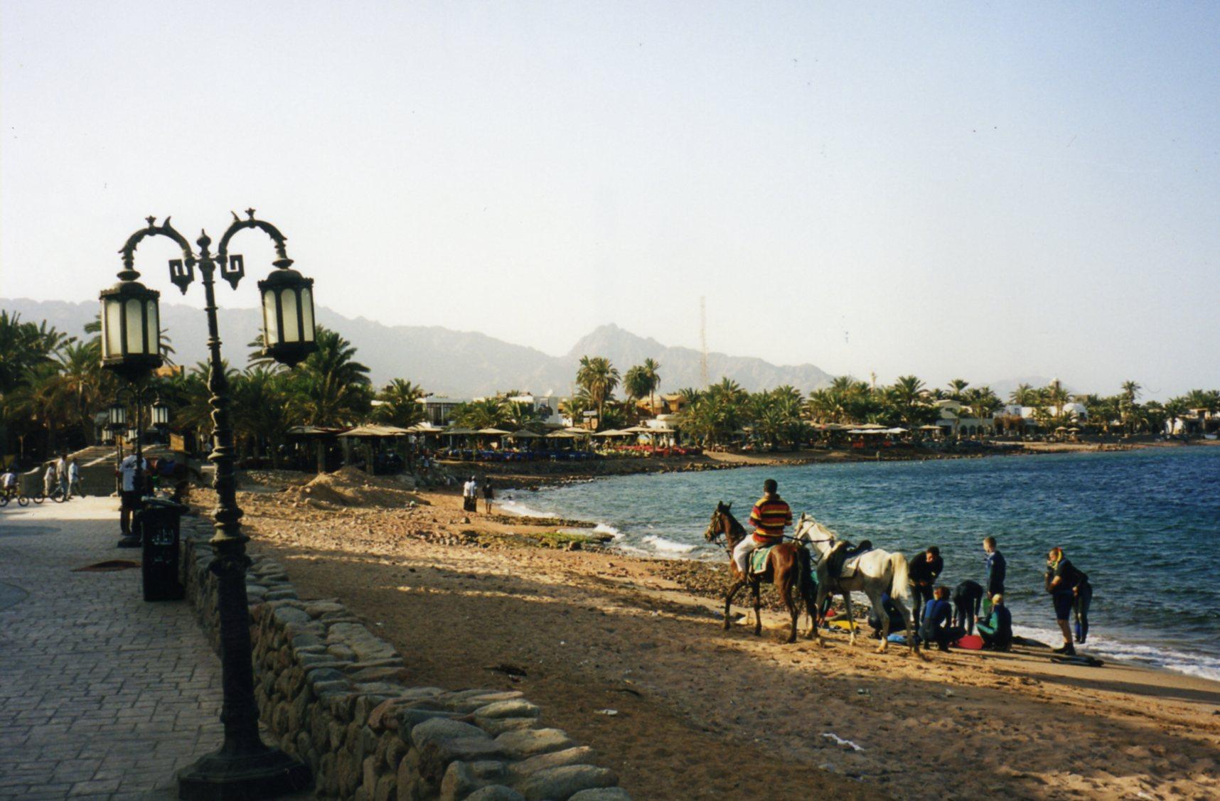 The bay & 'Beach' at Dahab
