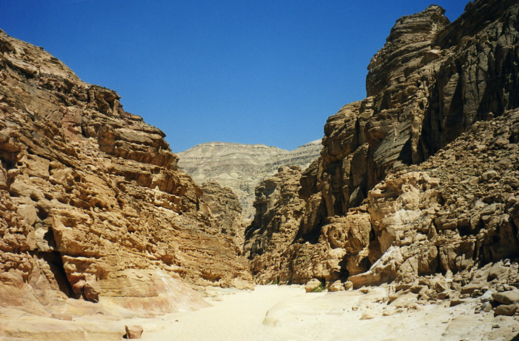 The Sinai desert and the Coloured Canyon