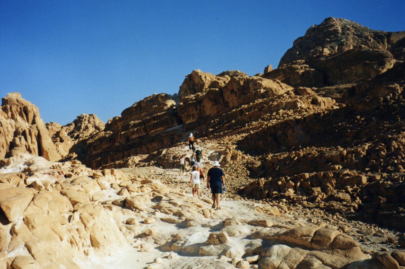 Walking to the White Canyon