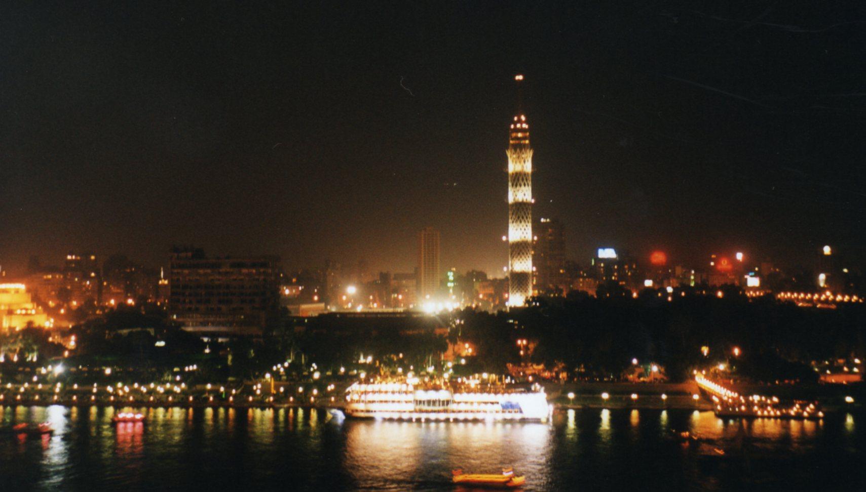 Nile River, Cairo at night
