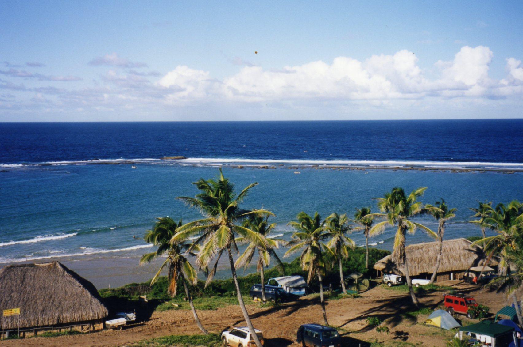 Reef at Paindane creating a sheltered bay