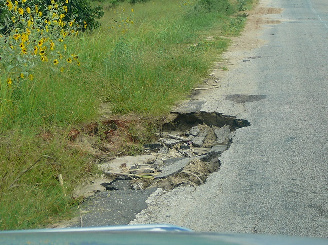 Constant potholes all over the roads