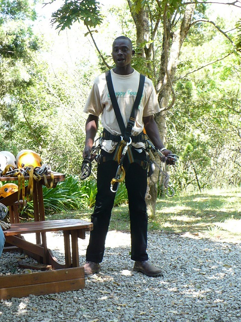 Tour guide Magoebaskloof zipline.JPG