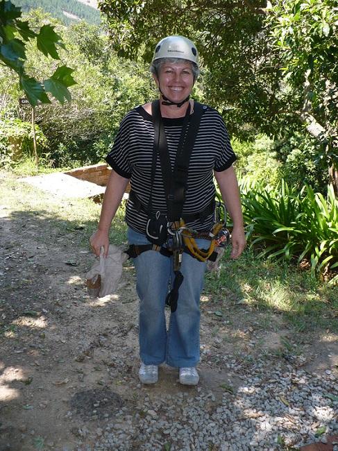 Kitted up with Harness, gloves and helmet Magoebaskloof zipline.JPG