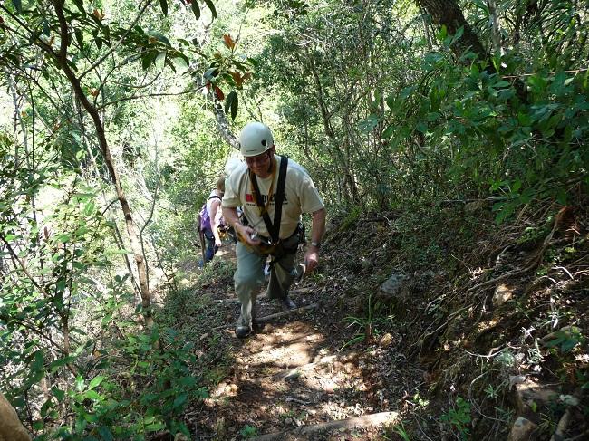 Walking uphill Magoebaskloof zipline.JPG