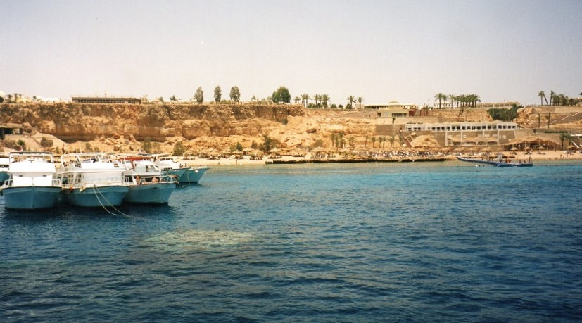 Anchored in a bay outside Sharm el Sheik