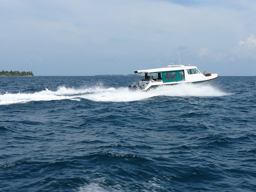 Water taxi transporting other tourists
