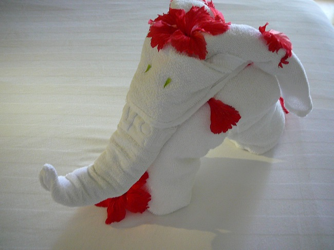Towel Art Elephant Maldives.JPG