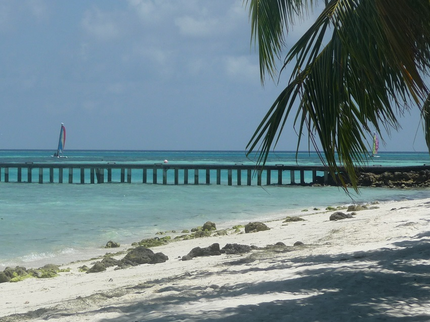 Beach and jetty Club Med Kani.JPG