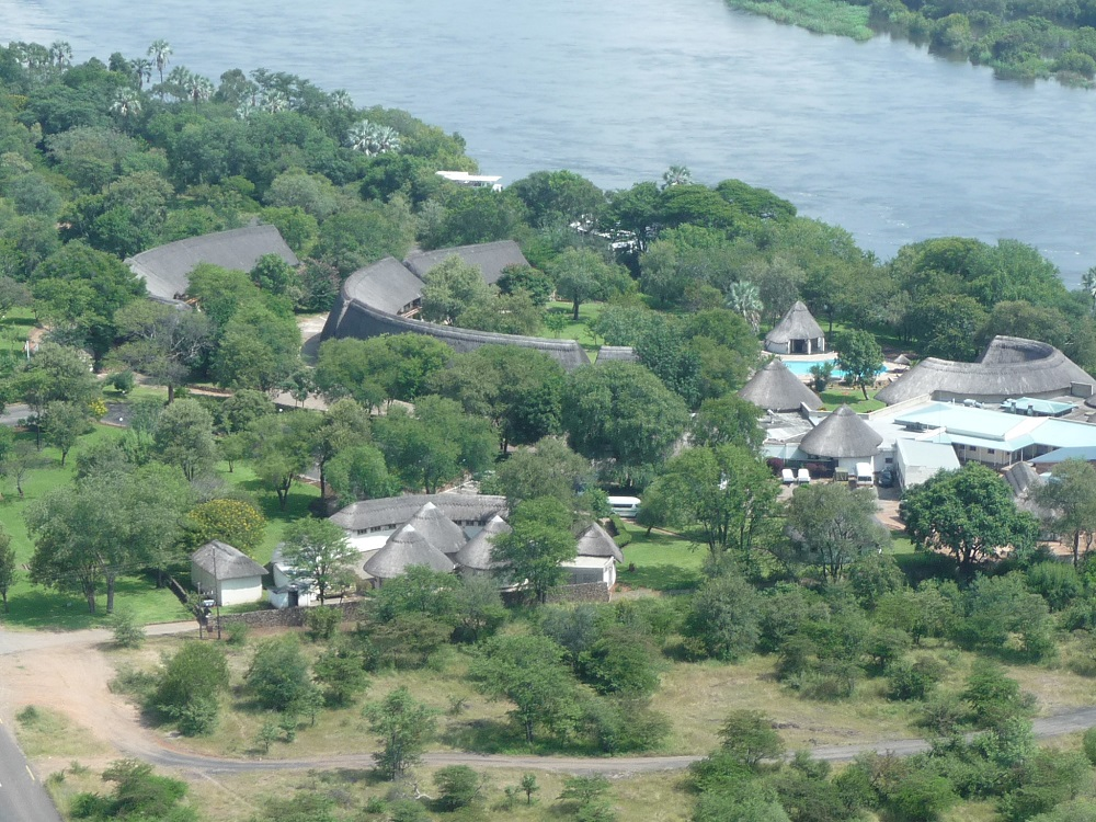 Closeup of aZambezi River Lodge from air.JPG