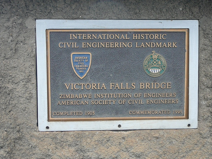 Sign Victoria Falls Bridge Completed 1905.JPG