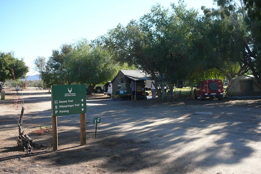 Sign for trails and camping grounds