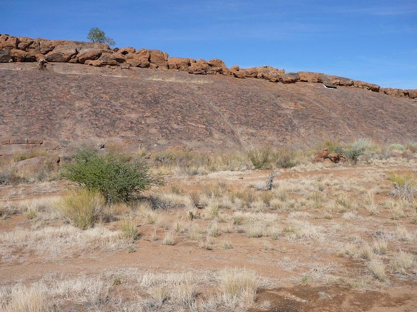 Formation of rocks on moonrock Augrabies Falls National Park.JPG