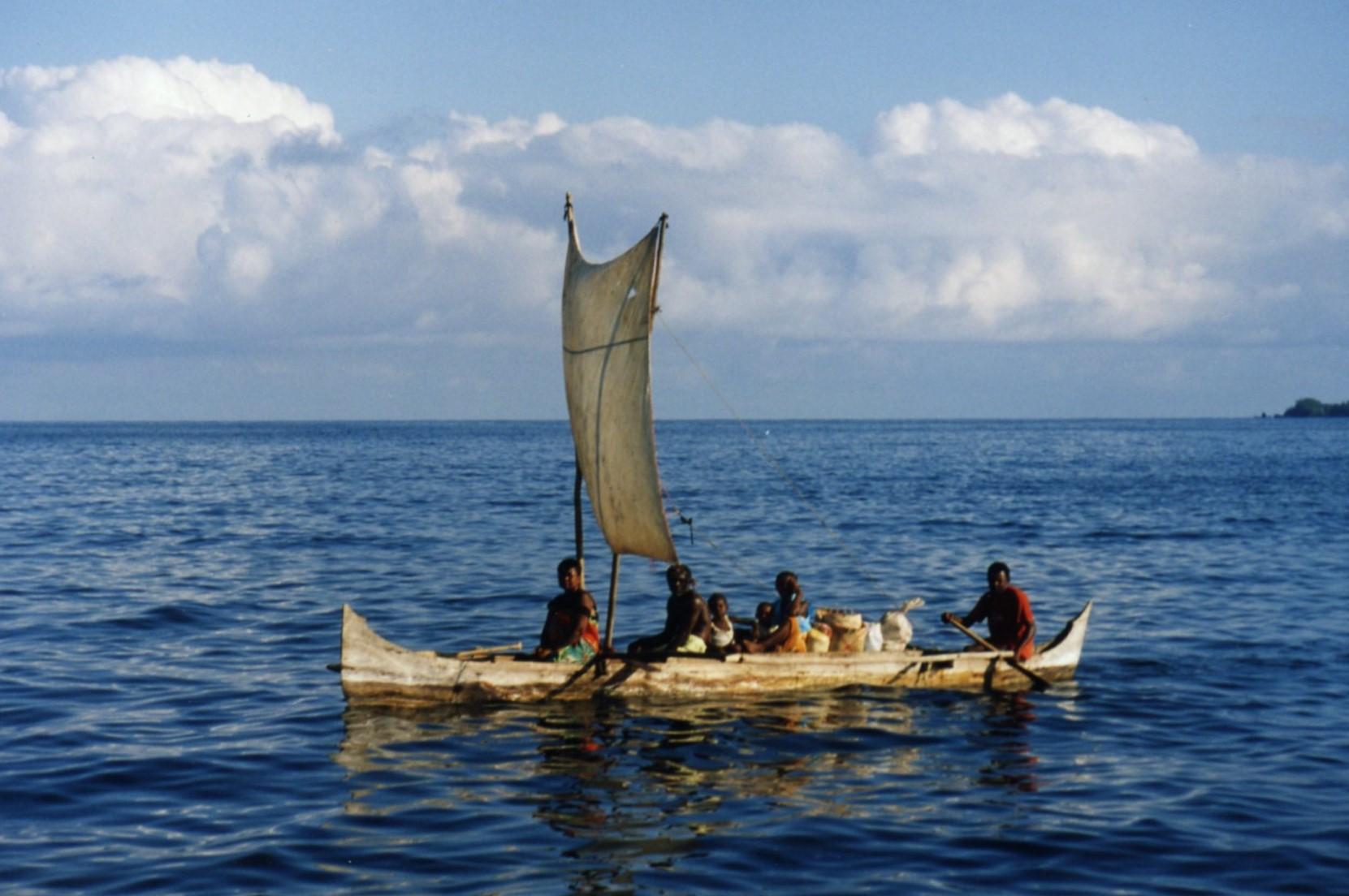 Pirogue with sail, Madagascar