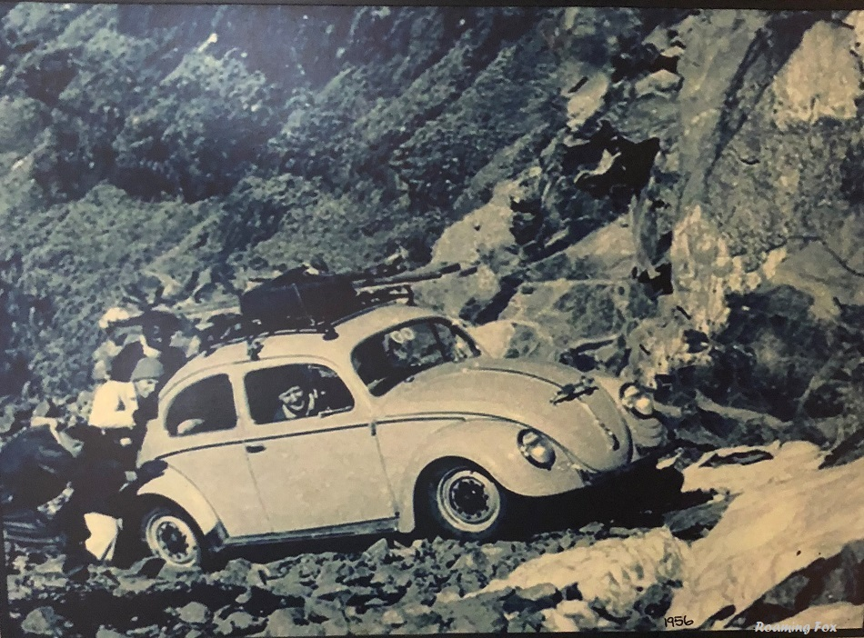Neither is this. In 1956 Sy Symonds drove a VW Beetle up the Sani Pass
