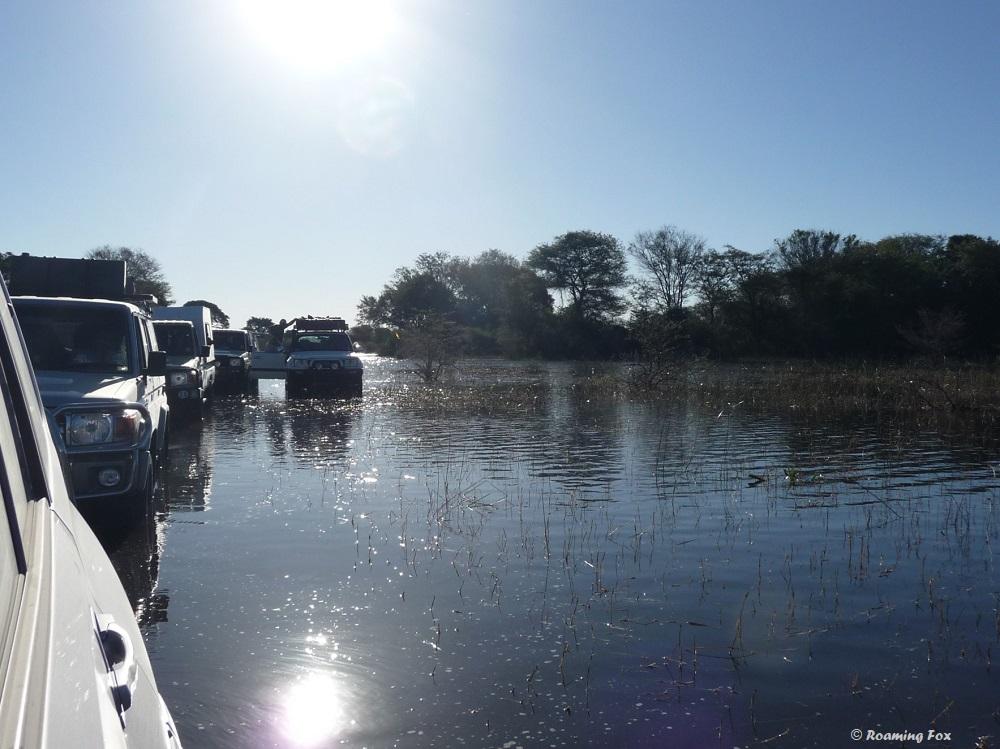 Driving towards Nguma Island Lodge, Okavango Delta