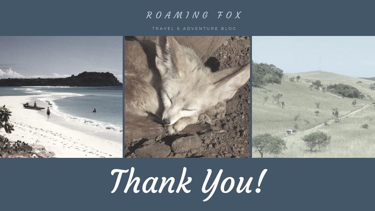 RoamingFox Thank you banner