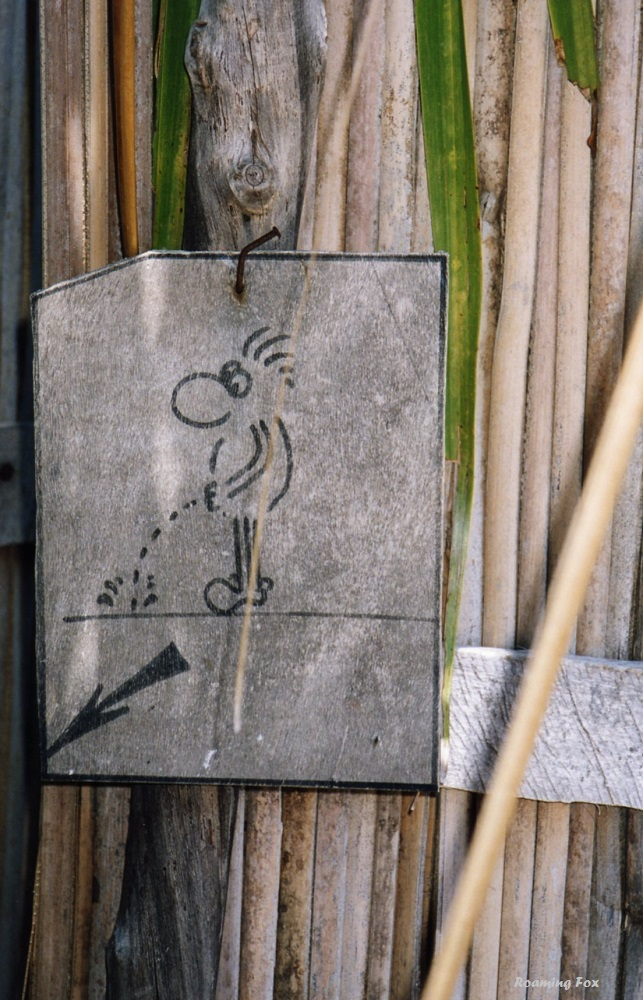 Toilet sign on Nosy Komba