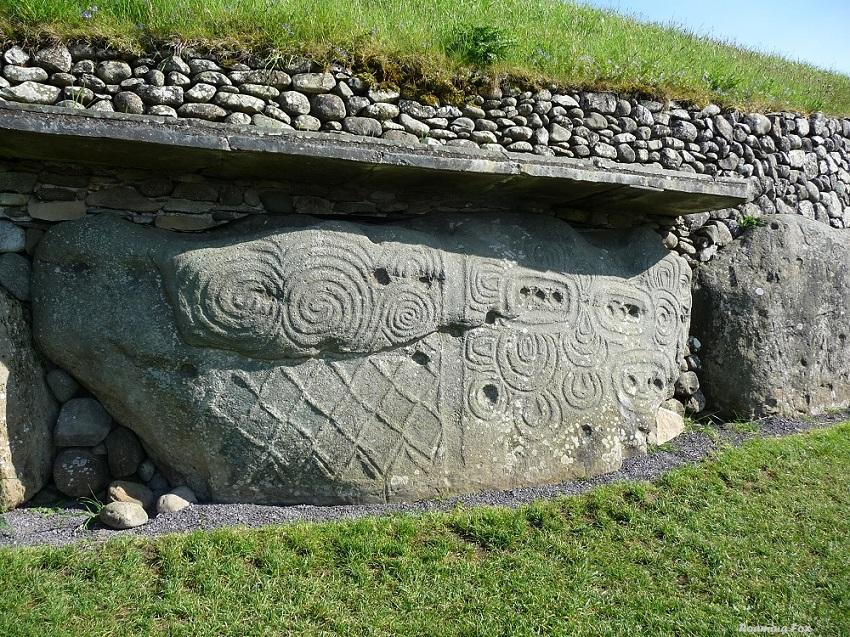 Stone Age Irish Tomb Boyne Valley New Grange, Ireland