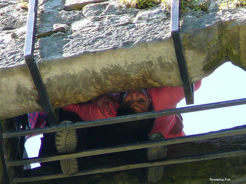 You have to be a contortionist to kiss the Blarney Stone