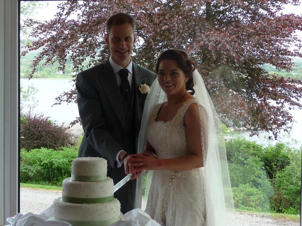 RF The bridal couple