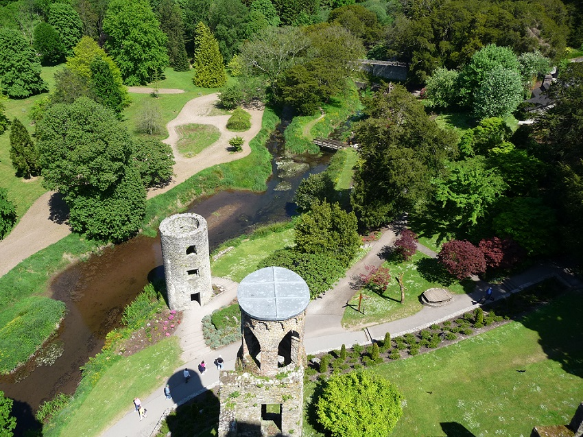 Gardens from top of Blarney Castle