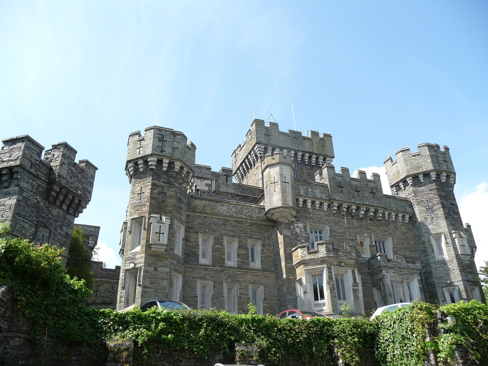 RF Wray Castle  Victorian neo-gothic building Claife, Cumbria