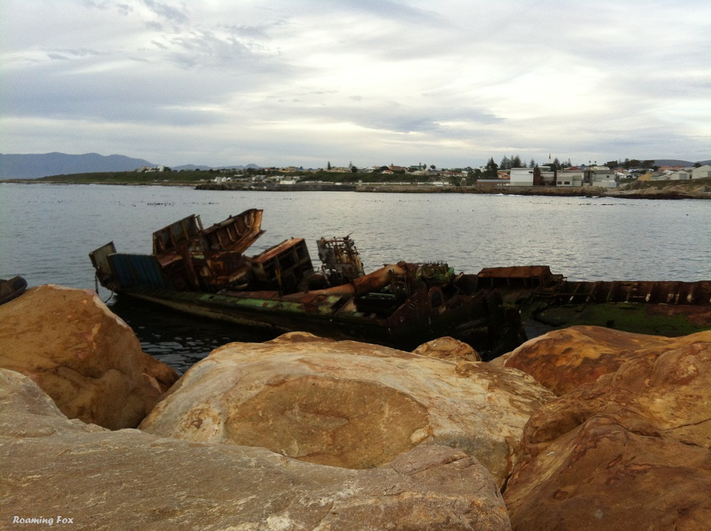 One of the smaller ship wrecks between the old and new harbour, Gansbaai
