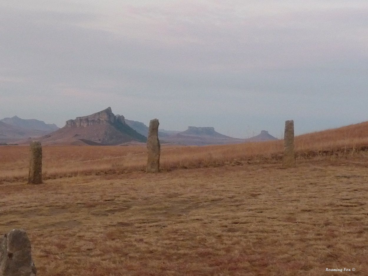 Stone pillars and interesting hills in the Northern Drakensberg