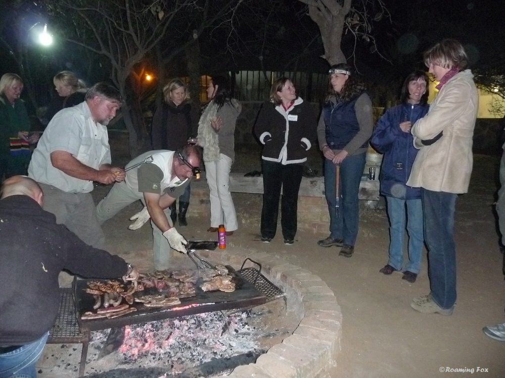 Typical South African braai (barbeque)