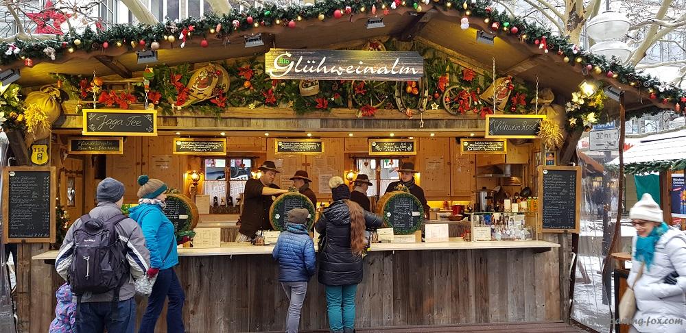 Gluhwein stand in Munich, Germany