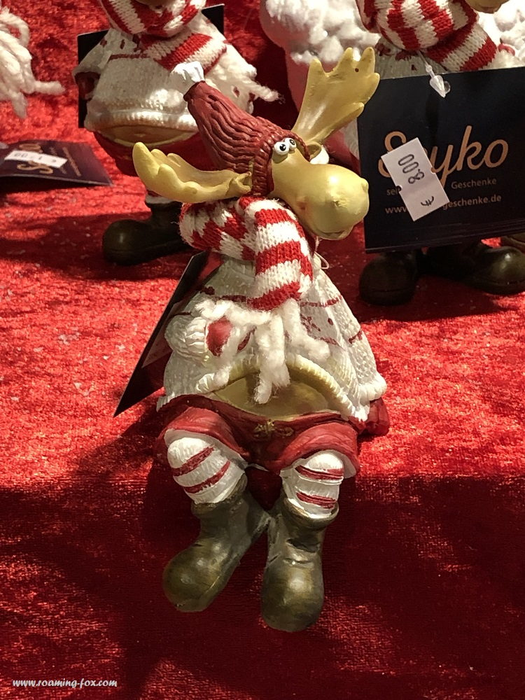 Delightful reindeer toy at a Christmas market in Germany