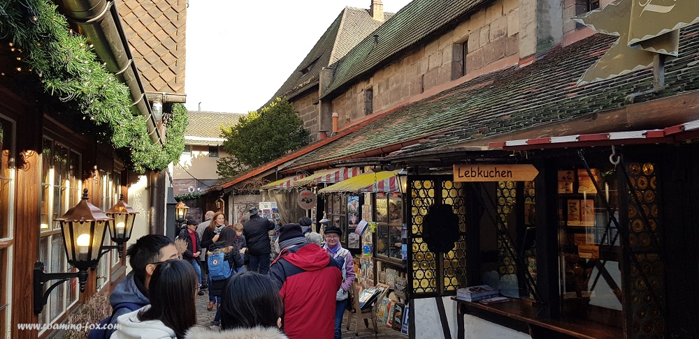 Bavarian Christmas market stalls