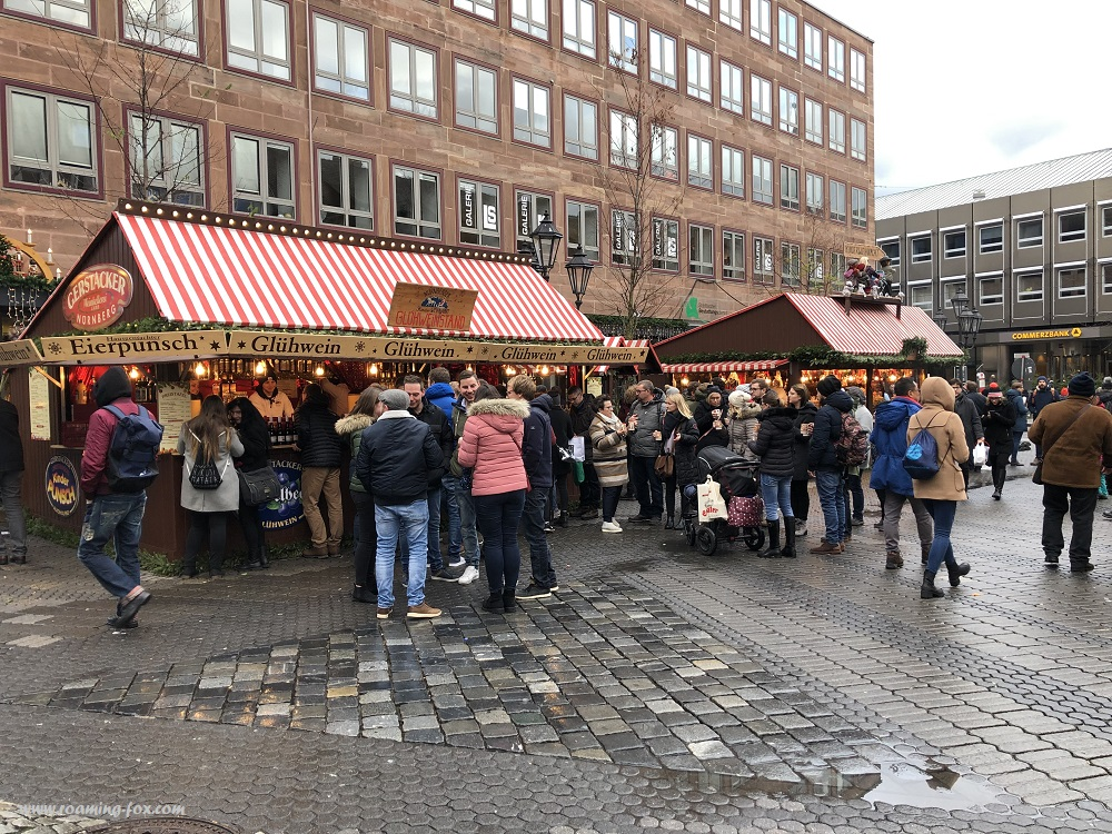 Gluhwein & food stalls in Germany