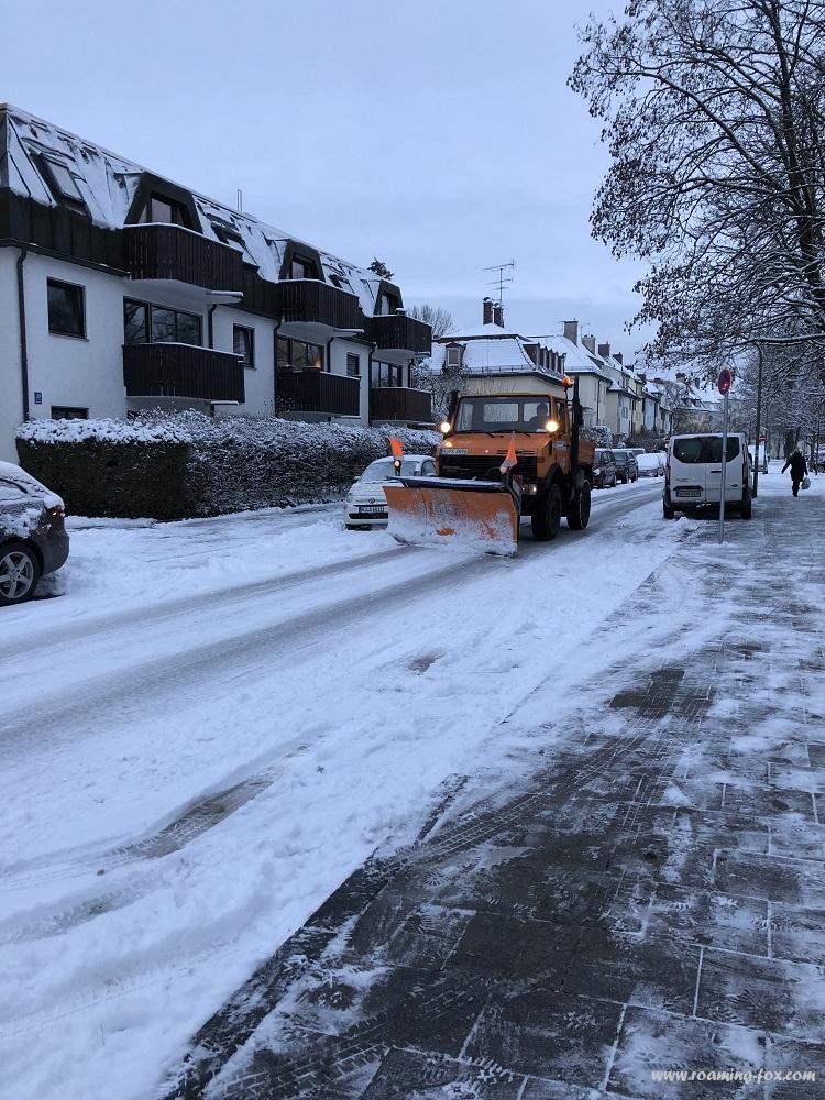 Snowplough in Munich