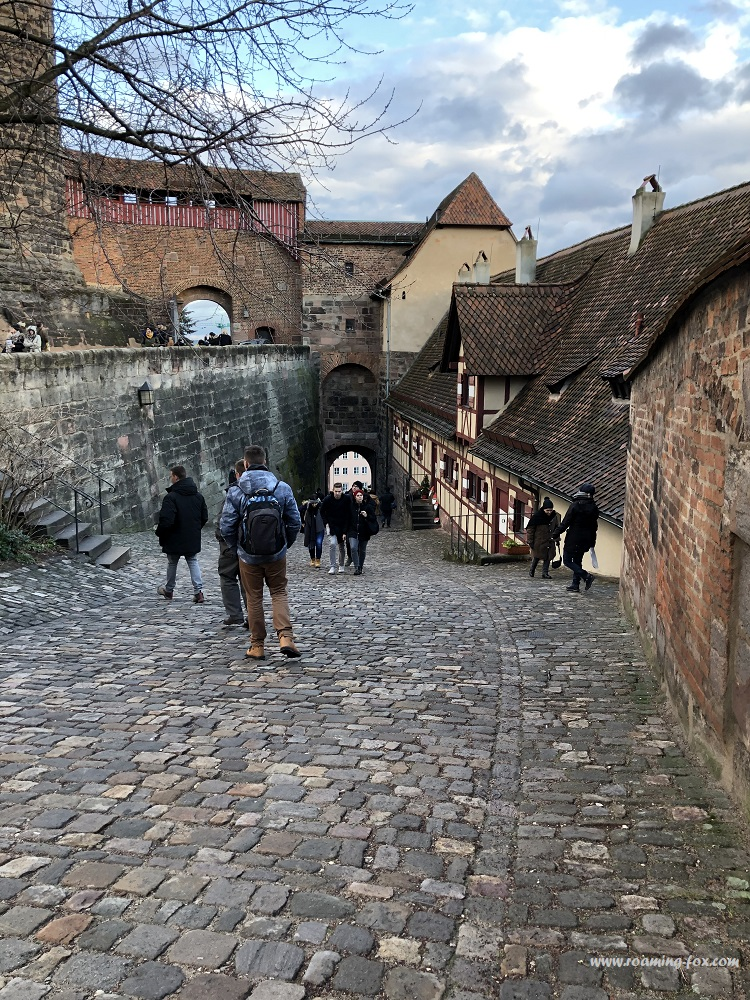 Steep road in the grounds of the Nuremburg Castle