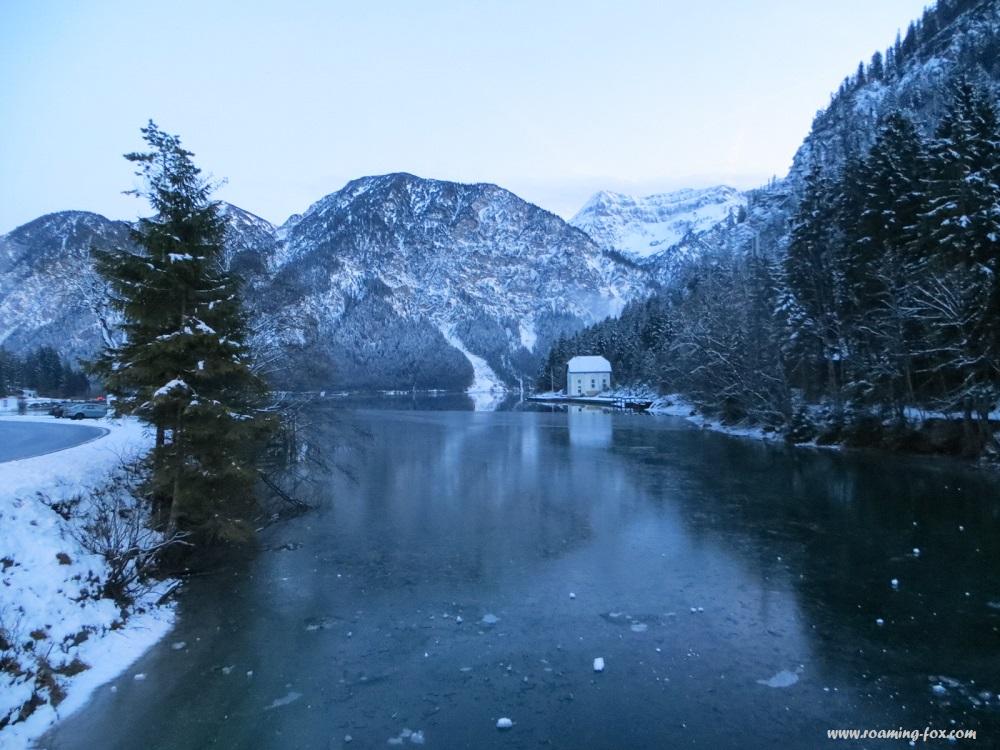 A frozen lake in Austria