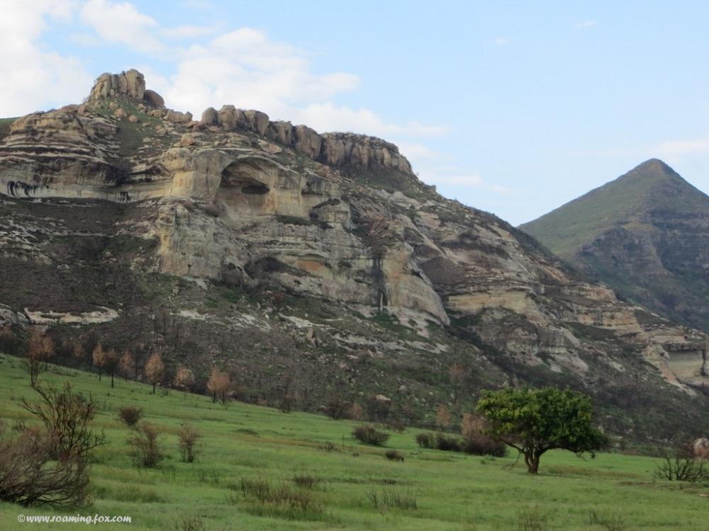 Impressive hills formed in sandstone