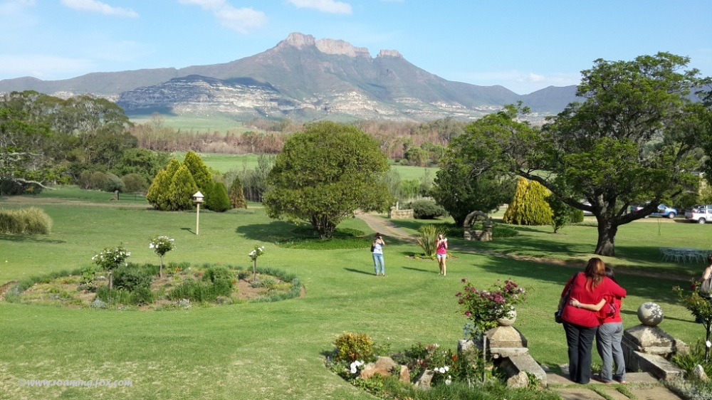 View from the main building at Moolmanshoek