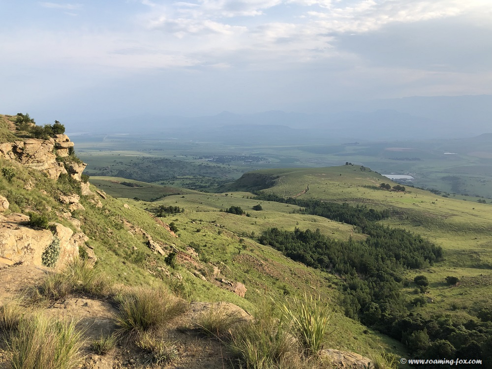 View from the edge of the escarpment Northern Drakensberg
